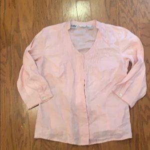 Edward Irishlinen - size small pink linen top